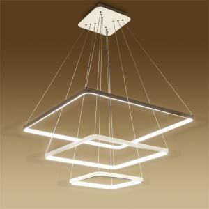 (Entrepôt UE) Moderne Simple Métal + Acrylique Blanc / blanc chaud LED SMD--1*120W Lustre
