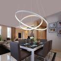 Lustre LED SMD 48W D 60 cm en métal acrylique suspension pour salon salle à manger