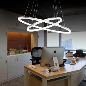 (Entrepôt UE) Moderne Simple Métal + Acrylique Blanc / blanc chaud LED SMD--1*45W Lustre
