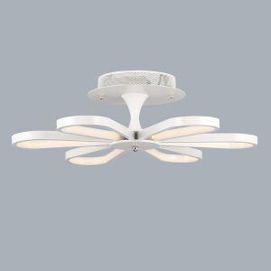 Plafonnier LED 40W métal plastique blanc D 60 cm pour salon