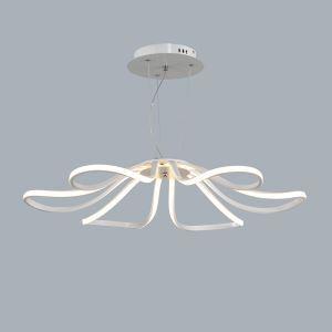 Lustre métal plastique LED 48W D75cm pour salle