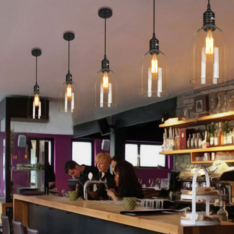 Suspension En Verre Dome H35cm Luminaire Cuisine Salle Pas Cher