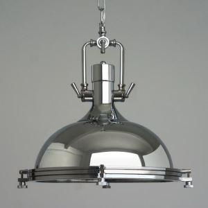 Suspension en fer chrome D43cm style industriel rétro rustique