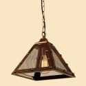 (Entrepôt UE) Suspension à 3 lampes style américain campagne industriel rétro rustique en fer unique