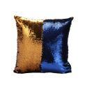 Taie de coussin 2 couleurs magique bleu et or 40*40cm