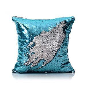 Taie de coussin 2 couleurs magique bleu et blanc 40*40cm