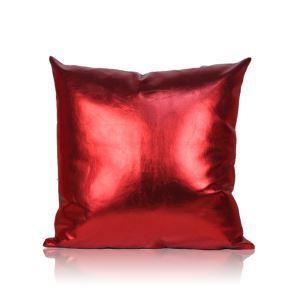 Taie de coussin en cuir PU oreiller coussin de bureau 50*50cm pour canapé sofa