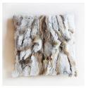 100% poil de lapin vrai oreiller coussin de fourrure réel