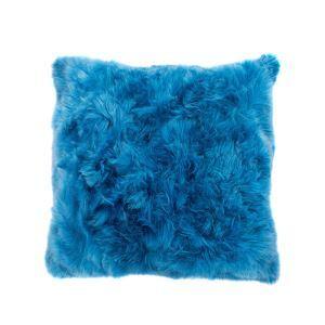 Taie de coussin oreiller Belle bleue imitation fourrure de renard voiture 45*45cm