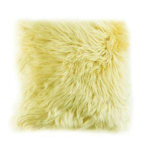 Taie de coussin oreiller Imitation fourrure de Mouton de Tan oreiller de fourrure Coussin de canapé de voiture