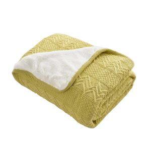 (Entrepôt UE) Plaid doux chaud pour canapé sofa chambre
