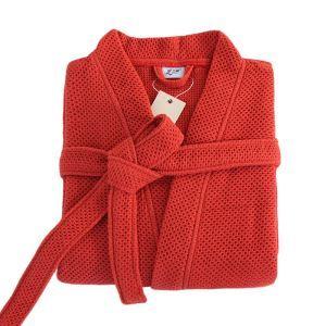 Peignoir col kimono adulte couleur rouge haut de gamme pour automne