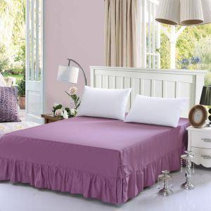 Jupe de lit Violette 150*200 cm literie minimaliste moderne 100% coton