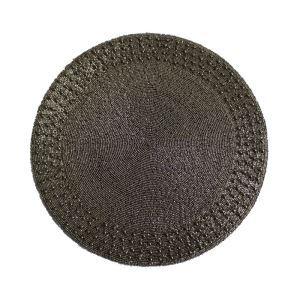 (Entrepôt UE)Set de table perlés à la main cannelle Perles de verre Haut de gamme napperon