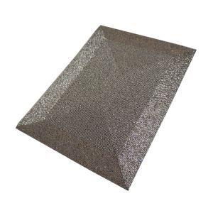 (Entrepôt UE)Set de table perlés à la main Perles de verre argent gris Haut de gamme de luxe napperon rectangulaire