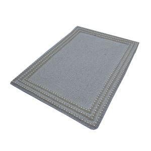 (Entrepôt UE)Set de table perlés à la main Perles de verre argent Haut de gamme de luxe napperon rectangulaire