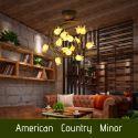 Plafonnier LED Fer doré tulipe à 15 lampes luxe D62cm pour salon