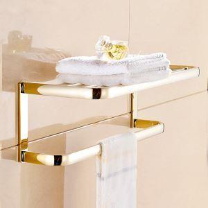 (Entrepôt UE)Porte-serviettes d'or Style moderne simple Accessoires de salle de bain en cuivre pour toilettes