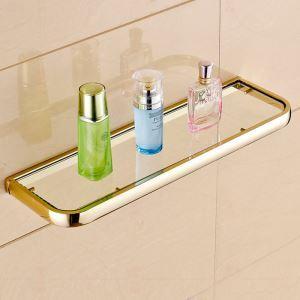 Etagère en cuivre d'or L50cm pour salle de bain