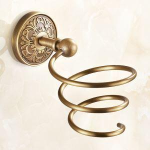 Porte sèche-cheveux rétro en cuivre accessoires de salle de bain