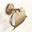Style européen rétro Accessoires de salle de bain en cuivre Porte-papier