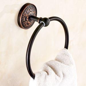 Anneau porte-serviette en laiton rétro H 21 cm accessoires de salle de bain