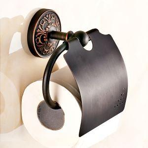 (Entrepôt UE) Porte-papier Accessoires de salle de bain en cuivre Style européen rétro