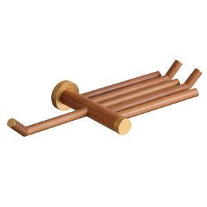 (Entrepôt UE) Style européen simple Accessoires de salle de bain en bois Porte-papier