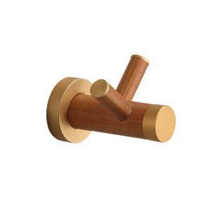 (Entrepôt UE) Style européen simple Accessoires de salle de bain en bois Vêtements crochet Patère