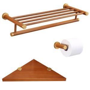 (Entrepôt UE) Style européen simple Accessoires de salle de bain Porte-serviettes Porte-papier Etagères de trépied