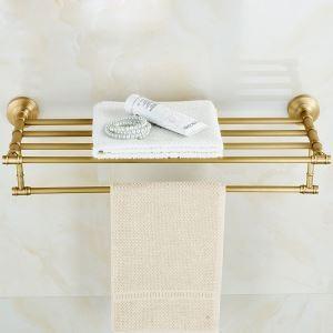 Porte-serviettes laiton rétro accessoires salle de bains
