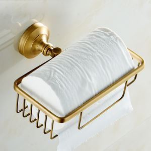 Porte-papier laiton rétro accessoires salle de bains
