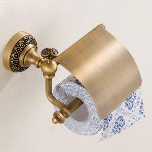 (Entrepôt UE) Accessoires salle de bain en cuivre porte-papier Style européen rétro