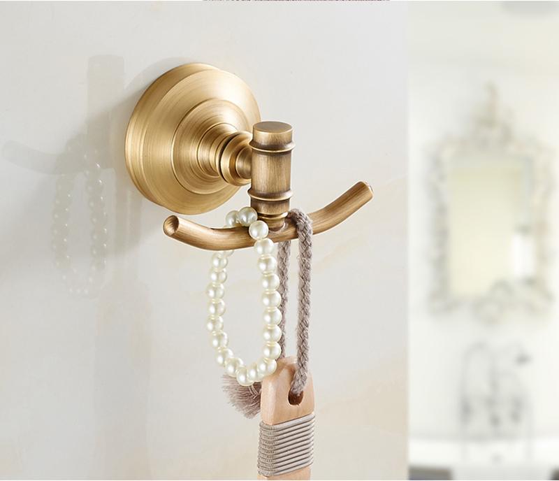 Vêtements crochet laiton rétro accessoires salle de bains