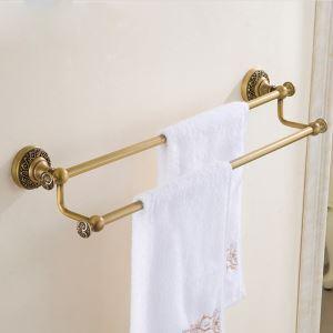 (Entrepôt UE) Barre de serviette accessoires de salle de bain en cuivre style européen rétro