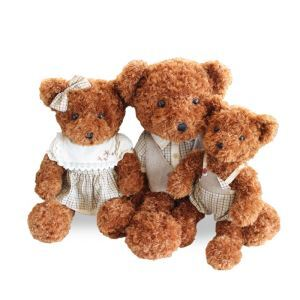 (Entrepôt UE) Poupée ours en peluche Ragdoll modèles maman Moyen