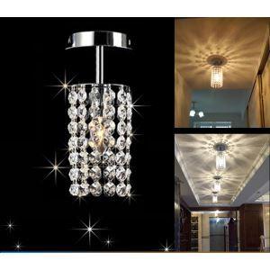 (Entrepôt UE) Livraison gratuite pas cher mini Moderne chromé cristal plafonnier pour l'entrée salon chambre à coucher