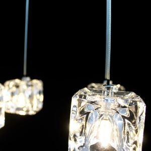 Suspension mini chromé cristal cristal  pour l'entrée salon chambre à coucher