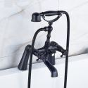 Robinet de baignoire noire peinture pour salle de bains rétro
