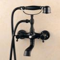 Mitigeur mécanique de baignoire noir en laiton style rétro peinture pour salle de bains