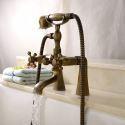 Robinet de baignoire antique brossé cannelle salle de bains
