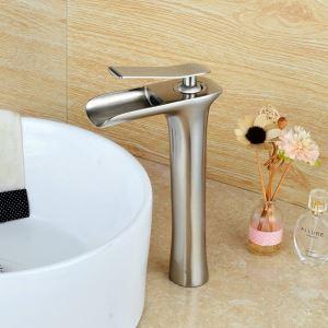 Afficher les détails pour (Entrepôt UE) Robinet de bassin brossé pour salle de bain moderne simple