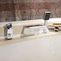Robinet de baignoire chrome pour salle de bains