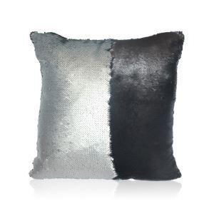 Taie de coussin 2 couleurs magique gris et noir 40*40cm