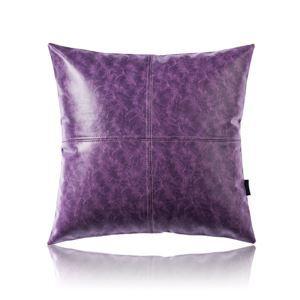Taie de coussin huile imitation violet en cuir haute qualité pour voiture bureau lombaire canapé sofa
