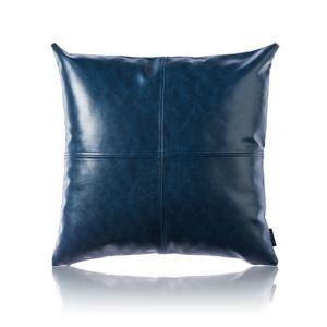 Taie de coussin en cuir huile imitation coloris bleu haute qualité pour voiture bureau lombaire canapé sofa