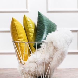 Taie de coussin en cuir huile imitation haute qualité 8 couleurs 30*50CM pour canapé sofa voiture bureau lombaire
