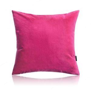 Taie d'oreiller velours couleur unie peluche canapé 6 couleurs 50*50cm