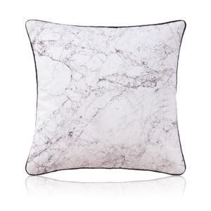 Taie d'oreiller velours texture naturelle noir et blanc