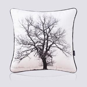 (Entrepôt UE) Moderne nordique Ultra-doux velours noir et blanc forme d'arbre coussin oreiller canapé